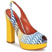 Cipők Női Szandálok / Saruk Missoni XM005 Citromsárga / Kék