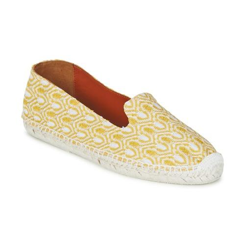 Cipők Női Gyékény talpú cipők Missoni XM029 Citromsárga