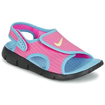 Cipők Lány Szandálok / Saruk Nike SUNRAY ADJUST 4 Rózsaszín / Kék