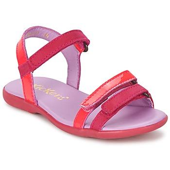 Cipők Lány Szandálok / Saruk Kickers ARCENCIEL Fukszia / Rózsaszín / Fluoreszkáló