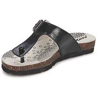 Cipők Lány Lábujjközös papucsok Kickers DITIK Fekete