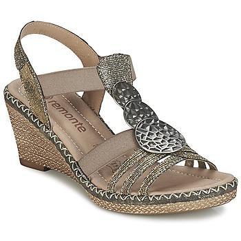 Cipők Női Szandálok / Saruk Remonte Dorndorf TINACE Arany / Ezüst