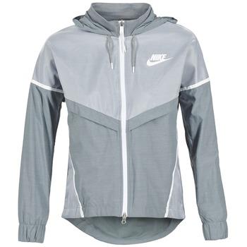 material Női Széldzseki Nike TECH WINDRUNNER Szürke