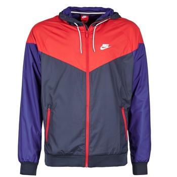 material Férfi Széldzseki Nike WINDRUNNER Tengerész / Piros / Kék