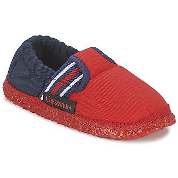 Cipők Fiú Mamuszok Giesswein AICHACH Piros / Tengerész