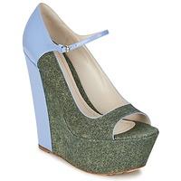 Cipők Női Félcipők John Galliano S54261 Kék / Zöld