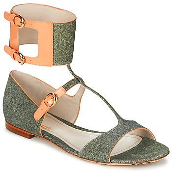 Cipők Női Szandálok / Saruk John Galliano A65970 Zöld / Bézs