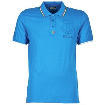 Ruhák Férfi Rövid ujjú galléros pólók Kappa OMER Kék