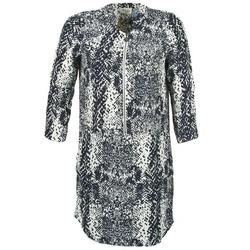 Ruhák Női Rövid ruhák Stella Forest EDERI Tengerész / Fehér
