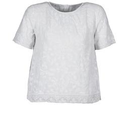 Ruhák Női Rövid ujjú pólók Manoush COTONNADE SMOCKEE Fehér