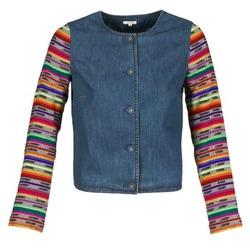 Ruhák Női Kabátok / Blézerek Manoush INDIAN DENIM Kék