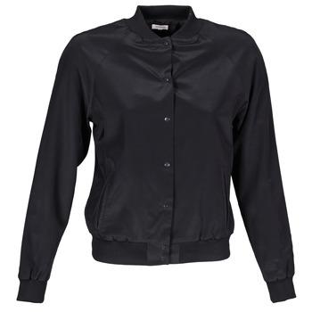 Ruhák Női Kabátok / Blézerek Manoush TEDDY FLEUR SIATIQUE Fekete