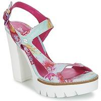 Shoes Női Szandálok / Saruk Desigual VENICE Türkiz / Rózsaszín