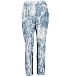 material Női Lenge nadrágok Vila GRUNGE ME Kék / Fehér