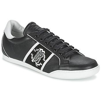 Cipők Férfi Rövid szárú edzőcipők Roberto Cavalli 7779 Fekete