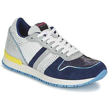 Cipők Női Rövid szárú edzőcipők Serafini LOS ANGELES Kék / Fehér
