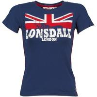 material Női Rövid ujjú pólók Lonsdale ERYKAH Kék