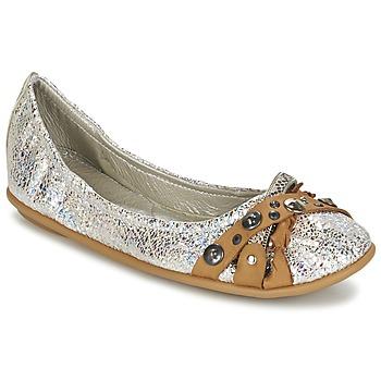 Cipők Női Balerina cipők / babák Regard SOLI Ezüst / Bézs