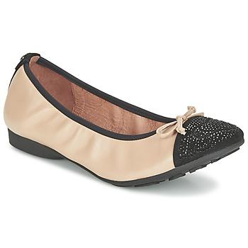 Cipők Női Balerina cipők / babák Mam'Zelle NUPO Bézs / Fekete