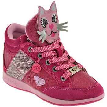 Cipők Gyerek Magas szárú edzőcipők Lelli Kelly Gattino Rosa