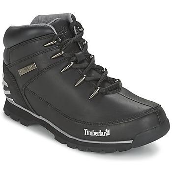Cipők Férfi Csizmák Timberland EURO SPRINT HIKER Fekete  / Visszatükröző