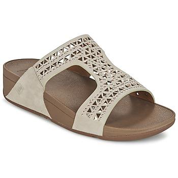 Cipők Női Papucsok FitFlop CARMEL SLIDE Bézs