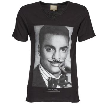 material Férfi Rövid ujjú pólók Eleven Paris MARLTON M Fekete