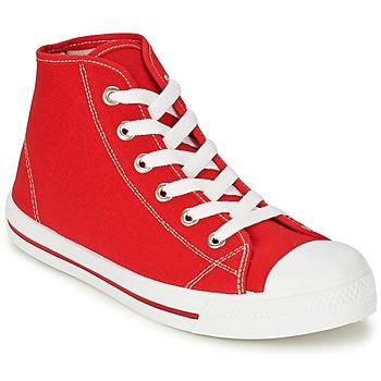 Shoes Férfi Magas szárú edzőcipők Yurban WAXI Piros