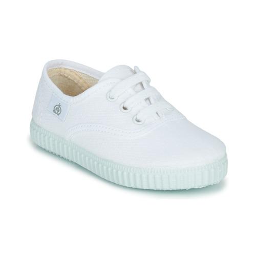 Cipők Gyerek Rövid szárú edzőcipők Citrouille et Compagnie KIPPI BOU Fehér