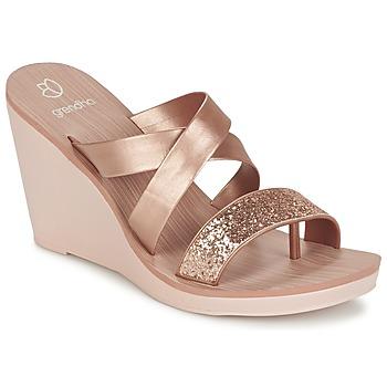 Shoes Női Szandálok / Saruk Grendha PARADISO II PLAT Rózsaszín / Fémes
