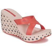 Cipők Női Papucsok Ipanema LIPSTICK STRAPS II Piros / Rózsaszín