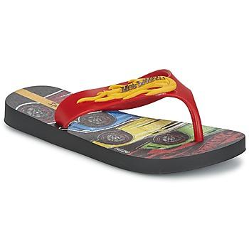 Cipők Fiú Lábujjközös papucsok Ipanema HOT WHEELS TYRE Piros / Fekete