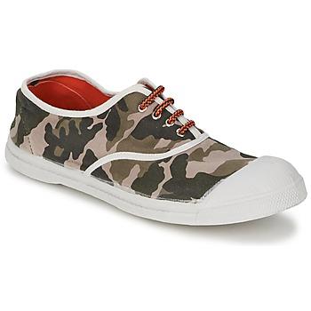 Cipők Női Rövid szárú edzőcipők Bensimon TENNIS CAMOFLUO Álcáz
