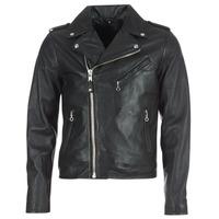 Ruhák Férfi Bőrkabátok / műbőr kabátok Schott LEVOQ Fekete