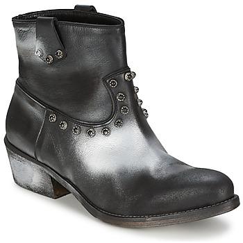 Cipők Női Csizmák Strategia SFUGGO Fekete  / Ezüst