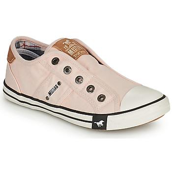 Cipők Lány Rövid szárú edzőcipők Mustang SHAYAN Rózsaszín