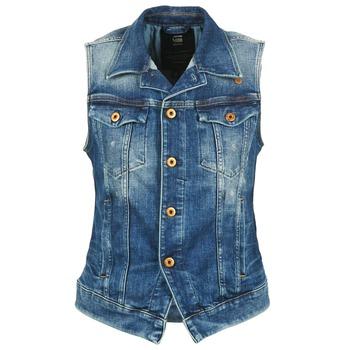 material Női Farmerkabátok G-Star Raw 3302 JKT S/LESS WMN Kék / Tiszta