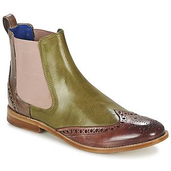 Shoes Női Csizmák Melvin & Hamilton AMÉLIE 5 Zöld / Rózsaszín / Bézs