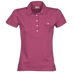 material Női Rövid ujjú galléros pólók Napapijri EZE Rózsaszín