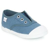 Cipők Gyerek Rövid szárú edzőcipők Citrouille et Compagnie RIVIALELLE Kék / Farmer