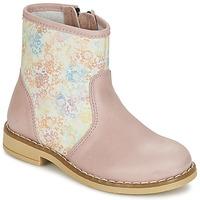Cipők Lány Csizmák Citrouille et Compagnie OUGAMO LIBERTY Rózsaszín / Virágszín