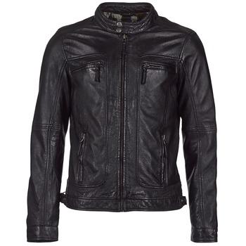 Ruhák Férfi Bőrkabátok / műbőr kabátok Oakwood CASEY Fekete