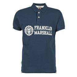 Ruhák Férfi Rövid ujjú galléros pólók Franklin & Marshall AYLEN Tengerész
