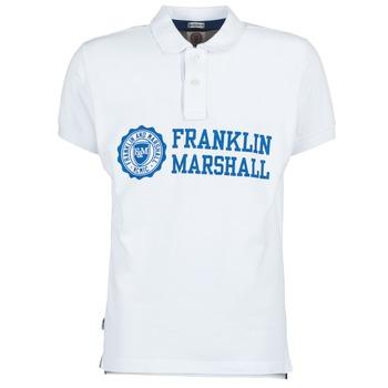Ruhák Férfi Rövid ujjú galléros pólók Franklin & Marshall AYLEN Fehér