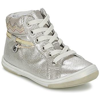 Cipők Lány Magas szárú edzőcipők Catimini CALLUNA Bézs / Ezüst