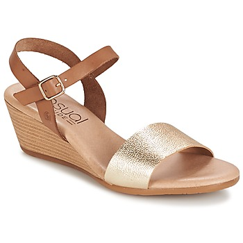 Shoes Női Szandálok / Saruk Casual Attitude GOLETTE Teve / Arany