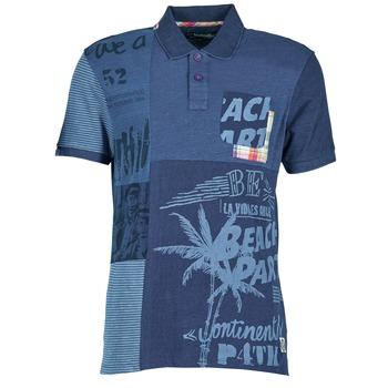Ruhák Férfi Rövid ujjú galléros pólók Desigual BELUDINE Kék