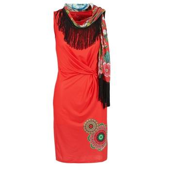 material Női Rövid ruhák Desigual USIME Piros