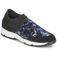 Cipők Női Belebújós cipők Meline LEO Fekete  / Kék