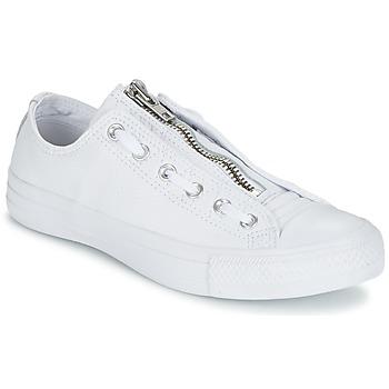 Cipők Férfi Rövid szárú edzőcipők Converse CHUCK TAYLOR ALL STAR MA-1 ZIP MILITARY LEATHER OX Fehér